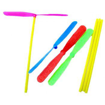 Outdoor Color Plastic Bamboo Dragonfly Toy 10PCS - multicolor B