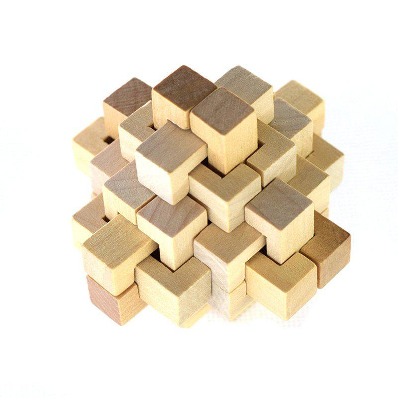 Wooden Puzzle Toy 24 Lock alloy key lock adult puzzle toy