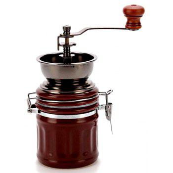 TB-BM-90 Domestic Small-Scale Sealed Pot Ceramic Manual Coffee Grinder - BROWN