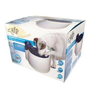 Pet Cat and Dog Mute Oxygen Cycle Water Fountain Dispenser - WHITE