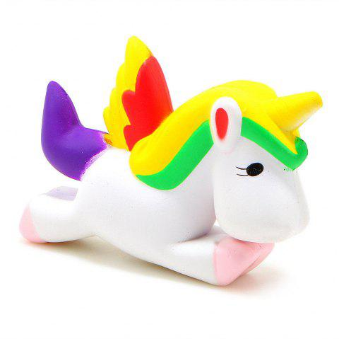 Jumbo Squishy Unicorn Slow Rising Cartoon Doll Squeeze Toy Collectibles - WHITE