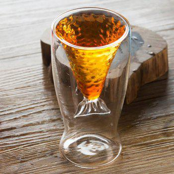 Transparent Mermaid Glass Cup Heat-resistance Cup for Beer and Wine 2PCS - TRANSPARENT 100ML