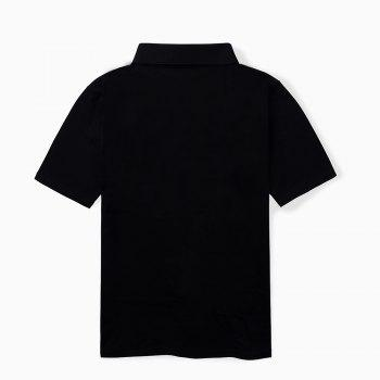 2018 New Casual and Pure Color Polo Shirt - BLACK 4XL
