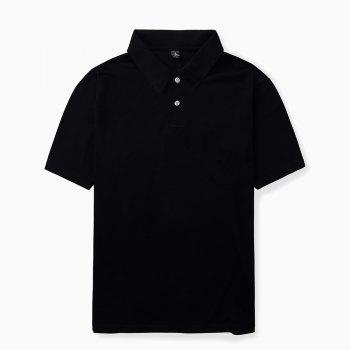 2018 New Casual and Pure Color Polo Shirt - BLACK 3XL