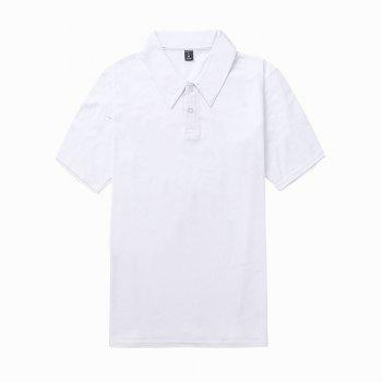 2018 New Casual and Pure Color Polo Shirt - WHITE M
