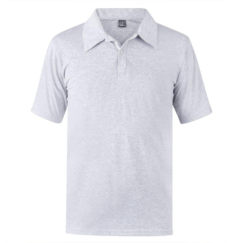 2018 New Casual and Solid Color Shirt - GRAY XS