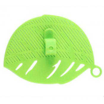 1PC Durable Leaf Shape Rice Wash Sieve Cleaning Gadget Kitchen Filter Clip Tool - GREEN
