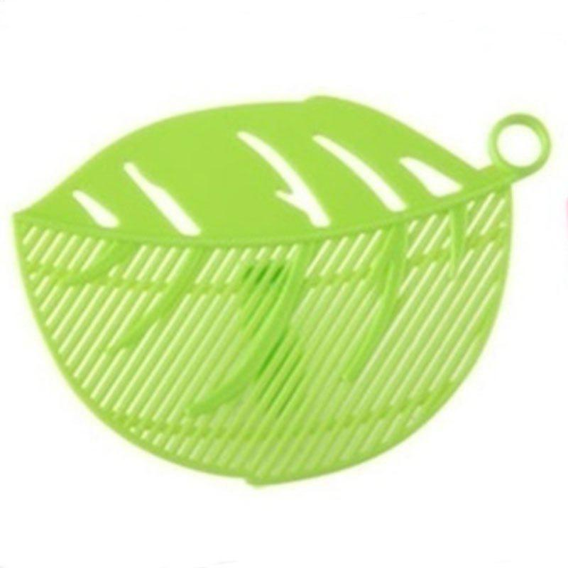 1PC Durable Leaf Shape Rice Wash Sieve Cleaning Gadget Kitchen Filter Clip Tool creative shake rice ball mold kitchen diy gadget