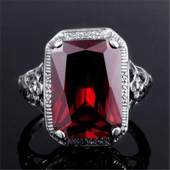 Bague de fiançailles Vintage Ruby Fashion - Rouge US SIZE 8