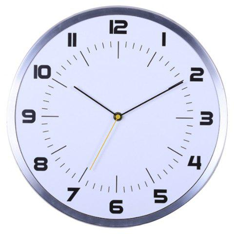 Home Multifunctional Creative Simple Fashion Wall Clock - WHITE