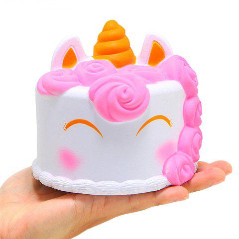Jumbo Squishy Slow Rising Scented Unicorn Cake Squeeze Toy - multicolor