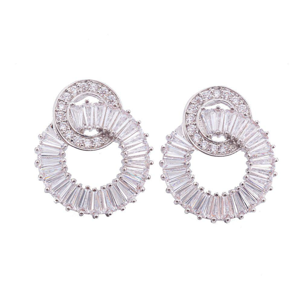 Fashion Drop Earrings with Crystal Rhinestone Shape of Round scott scale 750