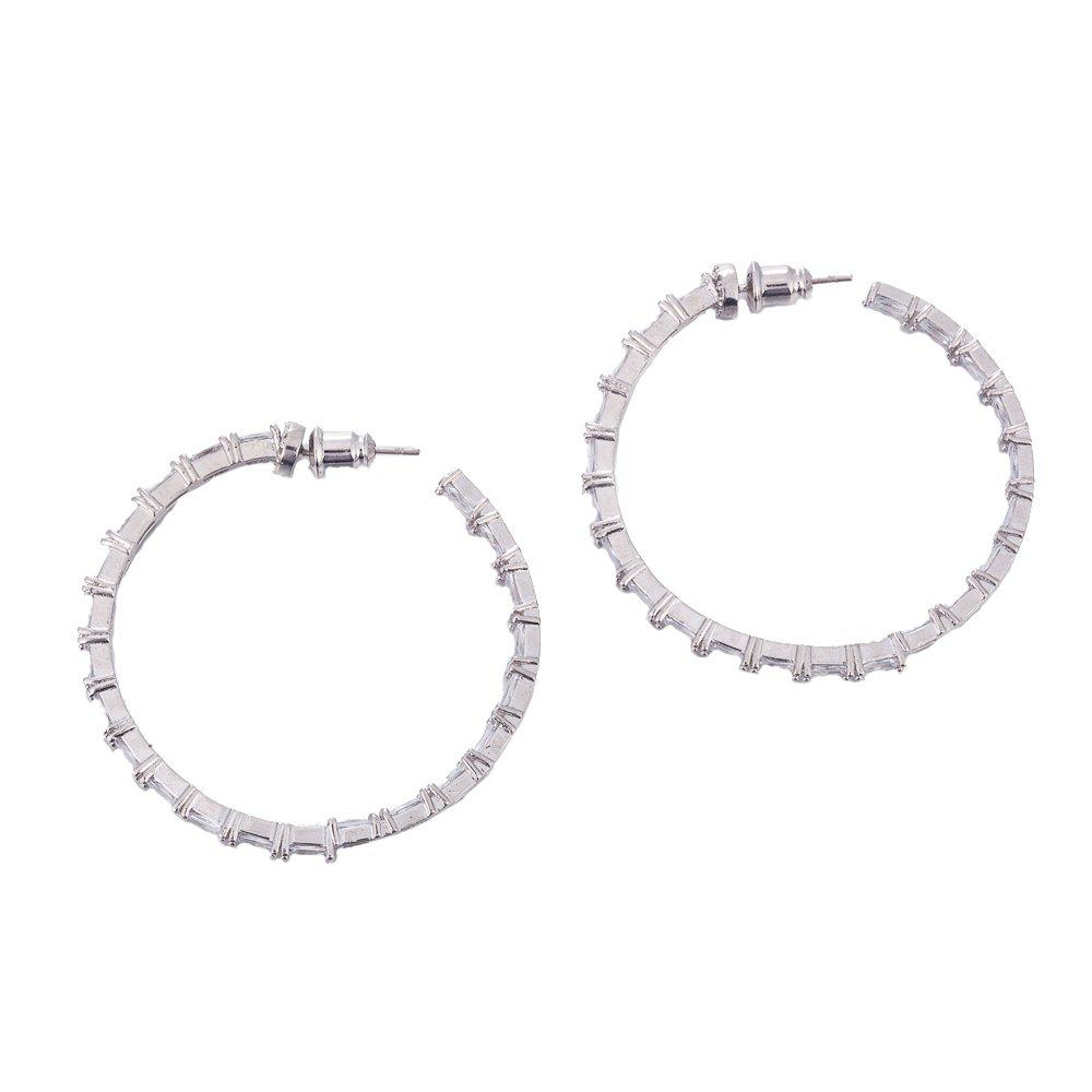 Fashion Circular Ring Nodal Rhinestone Hoop Earrings pioneer ts a6813i