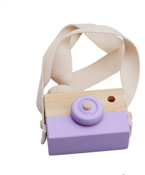 Cute Wooden Toy Camera Baby Kids Hanging Camera Photography - WISTERIA PURPLE