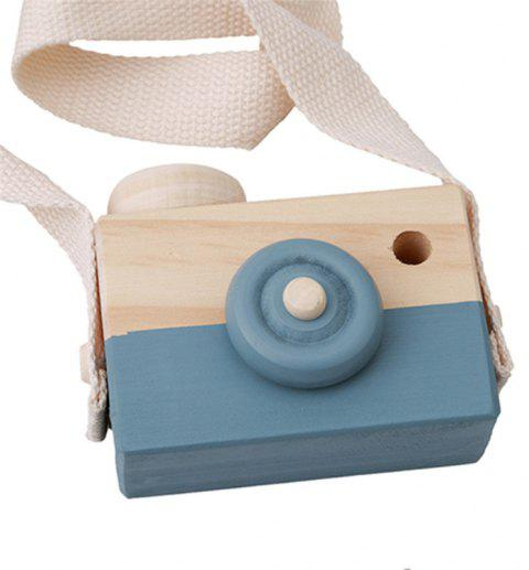Cute Wooden Toy Camera Baby Kids Hanging Camera Photography - COLUMBIA BLUE