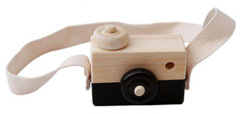 Cute Wooden Toy Camera Baby Kids Hanging Camera Photography - BLACK