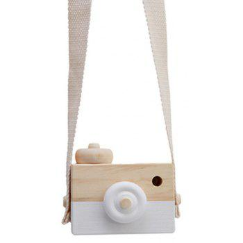 Cute Wooden Toy Camera Baby Kids Hanging Camera Photography - WHITE