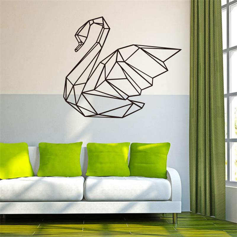 Geometry Goose Wall Stickers Removable PVC Art Vinyl Living Room Home Decor 3m gold silvery brush pvc decorative vinyl self adhesive wallpaper household appliances kitchen cabinet wall stickers home decor
