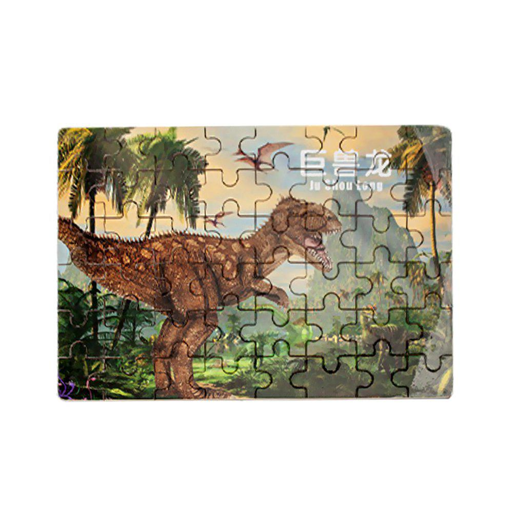 Children Puzzle 48 Pieces Wood Cartoon Dinosaur Jigsaw cartoon wood