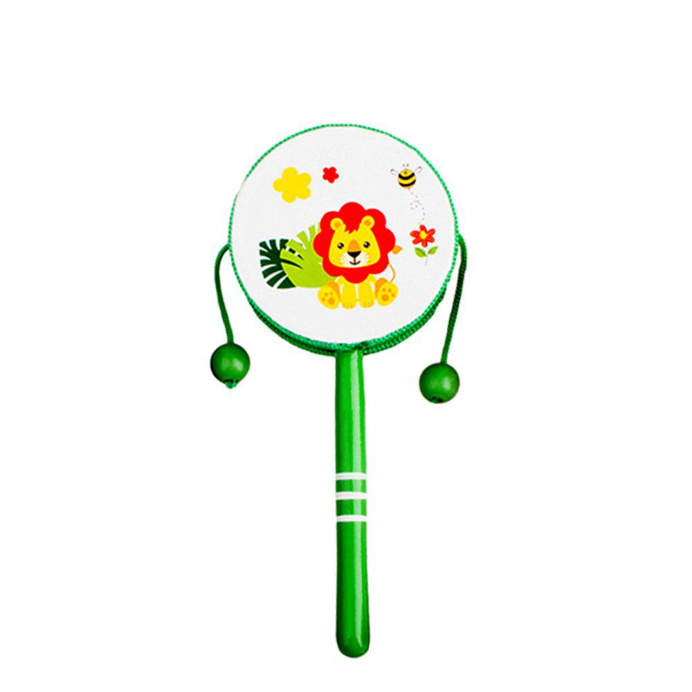 Early Childhood Toddler Wooden Cartoon Rattle - ALGAE GREEN