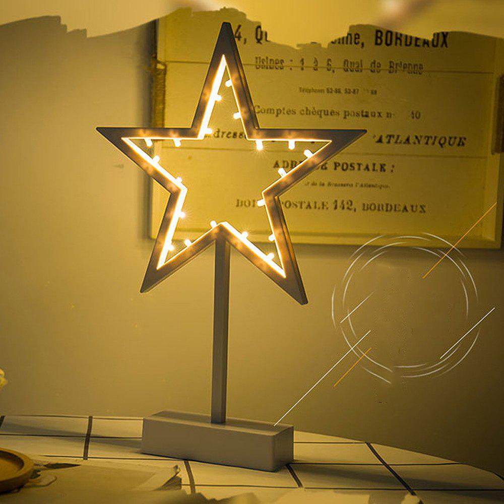 LED Star Creative Shape Decorative Light - CREAM