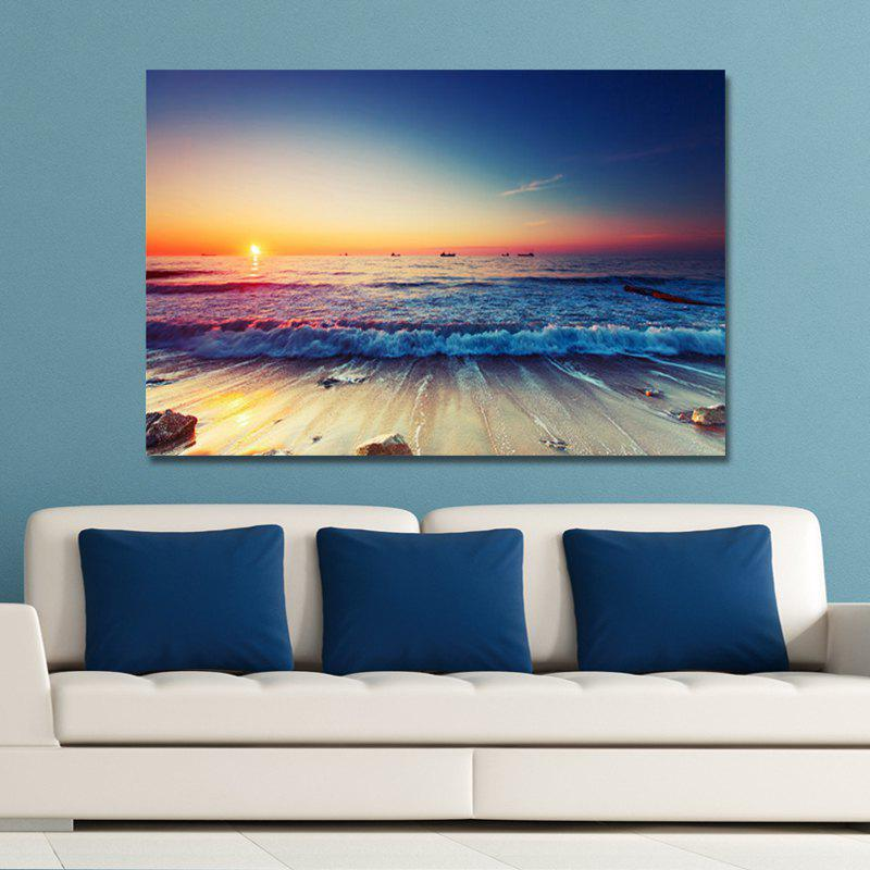 1-30 (6) Photography Sunrise Scenery on the Beach Print Art modern new k9 modern crystal lustres de cristal decoration chandeliers and pendants silver gold 6 8 15 18 arms for living room