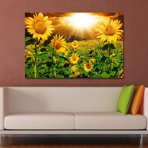 HH0035 (1) Photography Sunflower Sea Under The Sun Print Art - multicolor 40 X 60CM