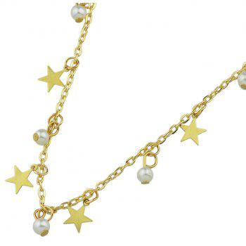 Perles Simulated-perle Star Charm cheville Sandales aux pieds nus - Or