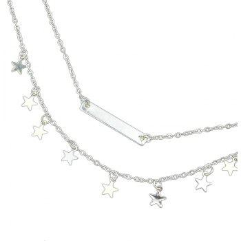 Summer Star Charm Anklets Beach Barefoot Sandals - SILVER