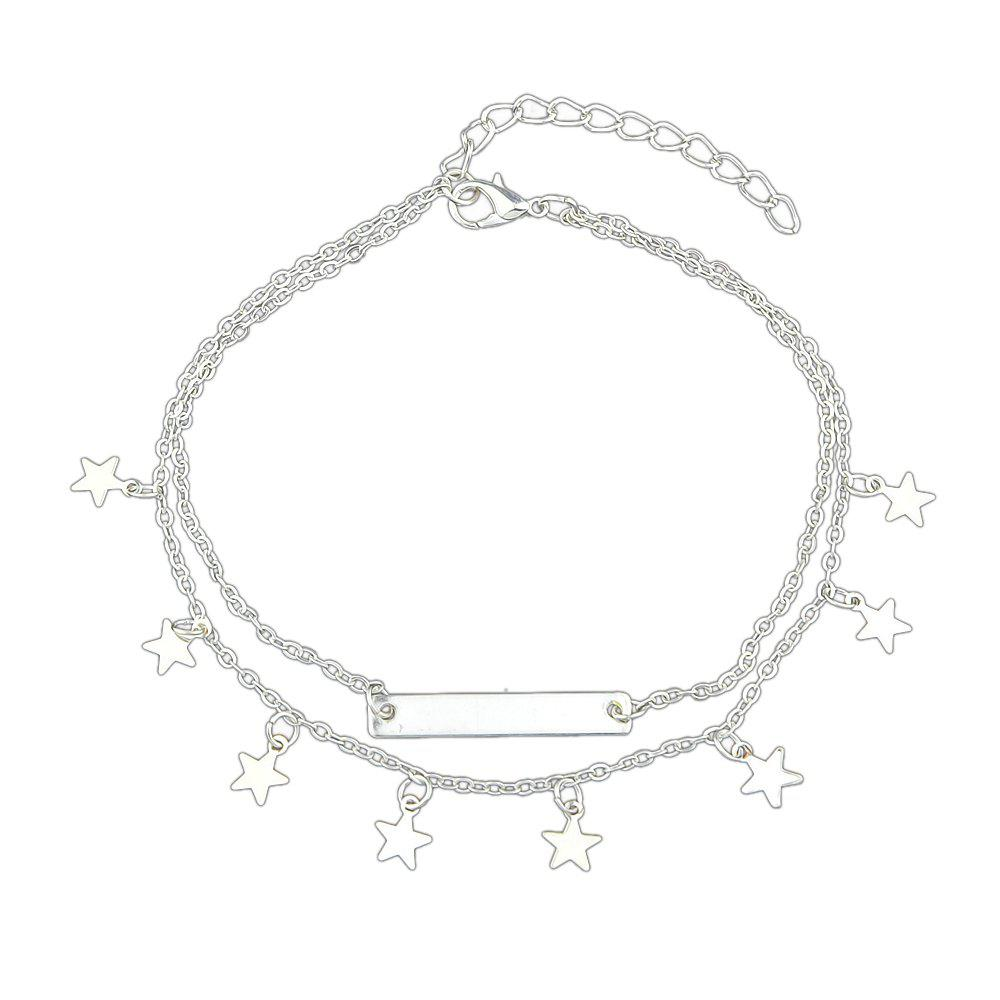 Summer Star Charm Anklets Beach Barefoot Sandals faux pearl starfish star charm beach anklets