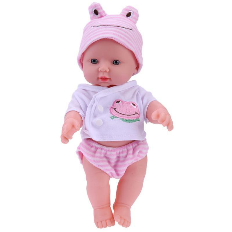 Simulation Baby Doll Washed Soft Plastic Toys realistic silicone vinyl reborn baby doll for kids gift toys lifelike sleeping babies 17inch