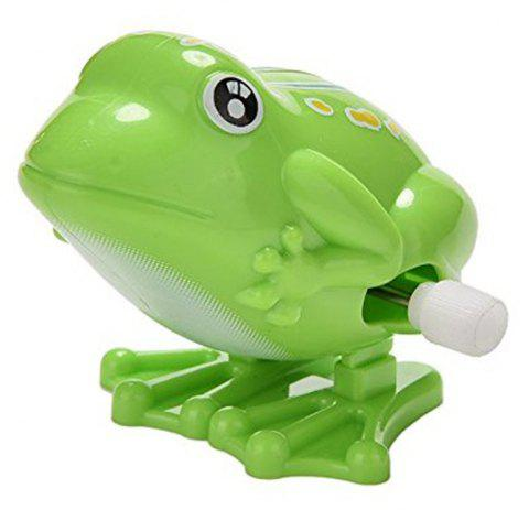 Wind Up Jumping Frog Plastic Classic Clockwork Toys - 001