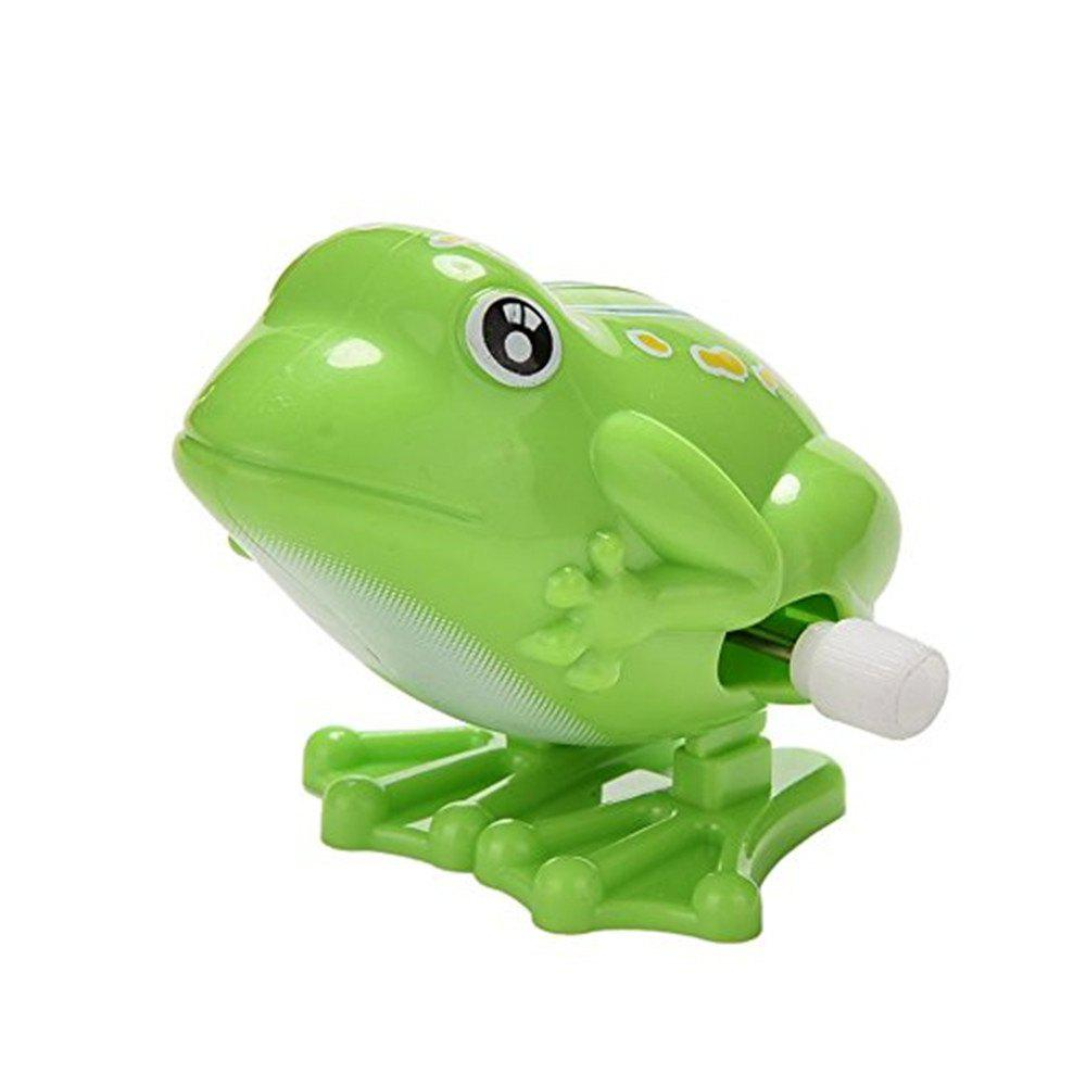 Wind Up Jumping Frog Plastic Classic Clockwork Toys -