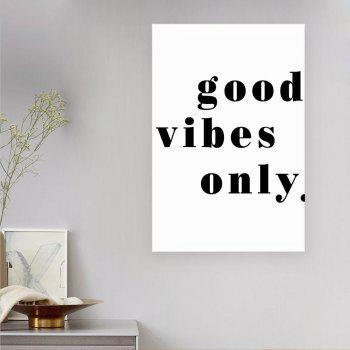 W249 Letters Scene Unframed Wall Canvas Prints for Home Decoration - multicolor A 30CM X 42CM