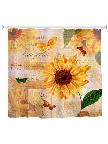 Butterfly Sunflower Water-Proof Polyester 3D Printing Bathroom Shower  Curtain 2682b1a6e