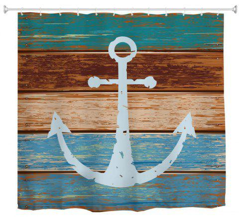 Board Anchor Water-Proof Polyester 3D Printing Bathroom Shower Curtain - multicolor A W71 INCH * L79 INCH
