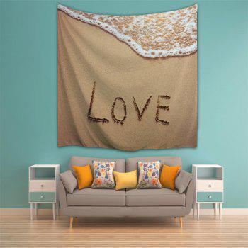 Beach Letter 3D Printing Home Wall Hanging Tapestry for Decoration - multicolor A W200CMXL180CM
