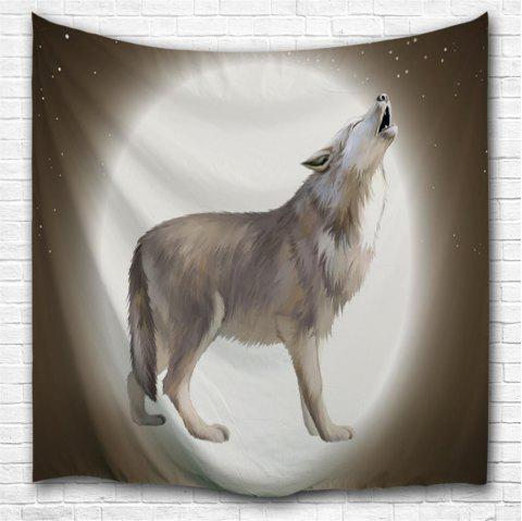 Howling Wolf Moon 3D Printing Home Wall Hanging Tapestry for Decoration - multicolor A W200CMXL180CM