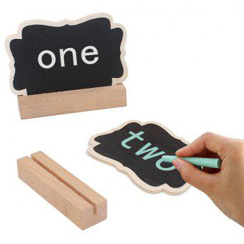 10PCS Small Blackboard Ornaments Creative Wooden Crafts Display Cabinets - BURLYWOOD