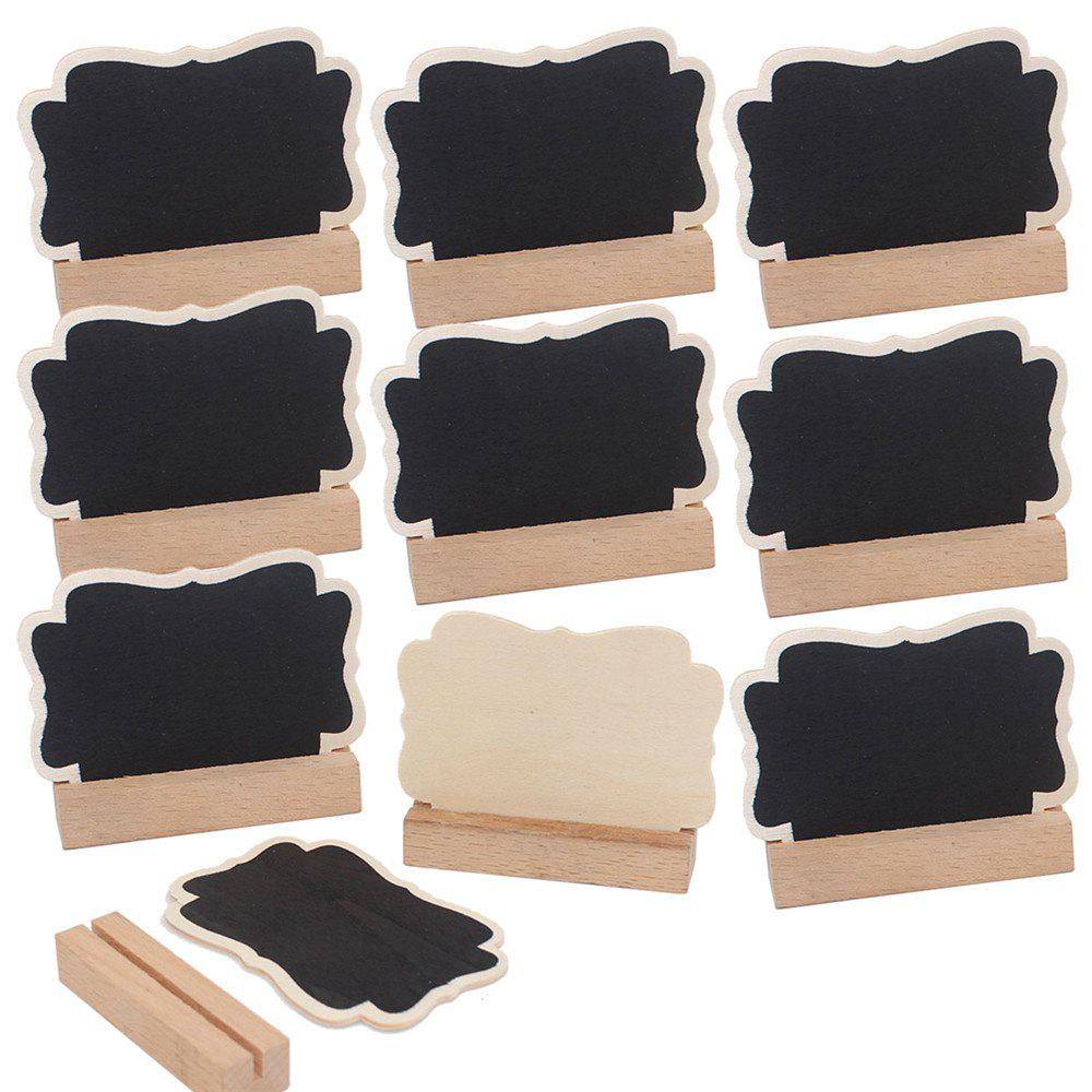 10PCS Small Blackboard Ornaments Creative Wooden Crafts Display Cabinets