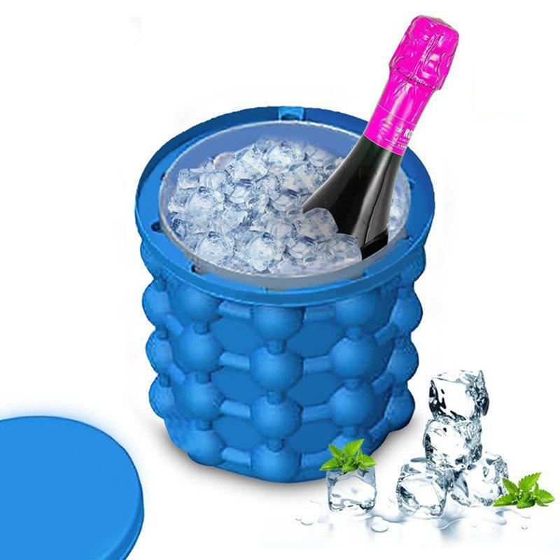 New Space Saving Cube Maker Silicone Ice Bucket new ice cube maker silicone bucket kitchen tools cubes machine refillable