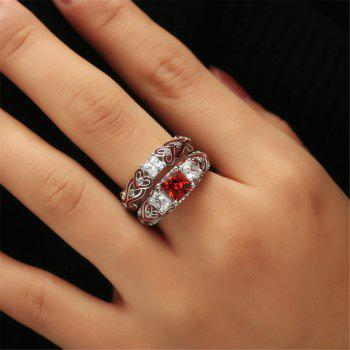 Fashion Pop Red Gem Dropper Ring - RED US SIZE 9