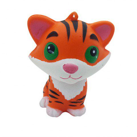 Jumbo Squishy Large Wet Soft Slow Springback and Reduced Pressure Small Tiger Toys - ORANGE