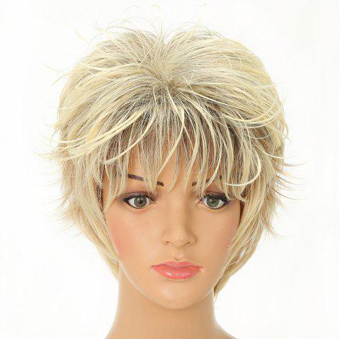95e724ebb Charming Short Blonde Synthetic Wavy Hair Wigs for White Girls - BLONDE  8INCH