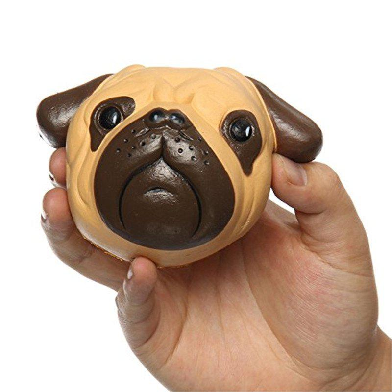 Jumbo Squishy Dog Bulldog Head Scented Slow Rising Squeeze Boys Girls Toys - multicolor