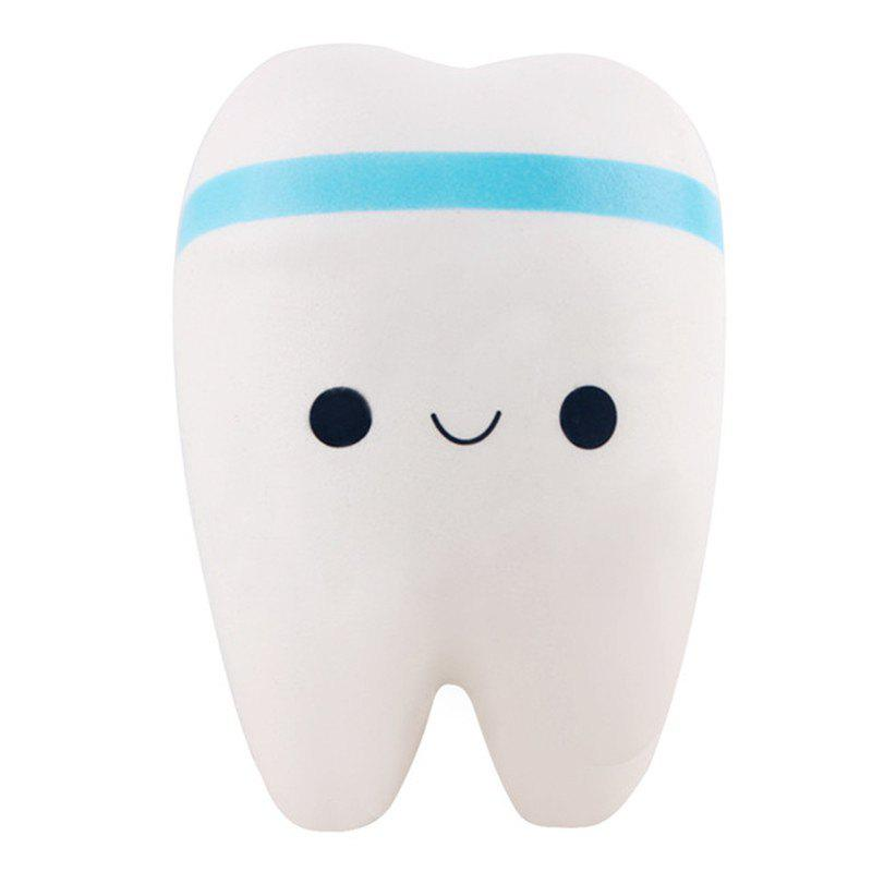 Jumbo Squishy Adorable Teeth Soft Slow Rising - DAY SKY BLUE