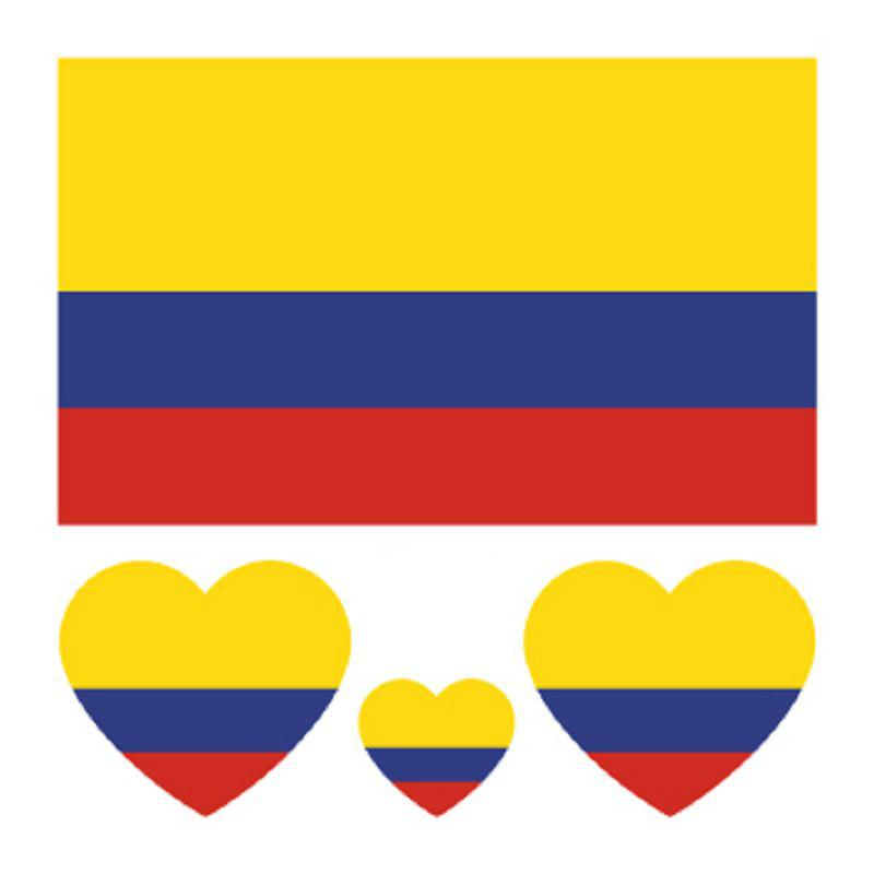 Colombian Flag Body Tattoo Stickers colombian flag body tattoo stickers