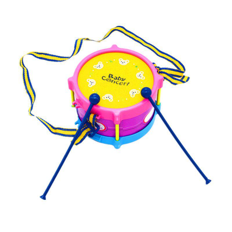 Happy Musical Instruments Combine Baby Sand Hammer Rattle Drum 5PCS - multicolor