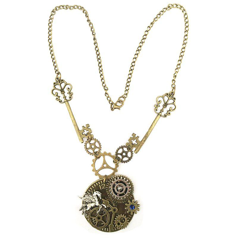 New Tianma Gear Mechanical Accessories Steampunk Necklaces pacgoth bag accessories steampunk keychain