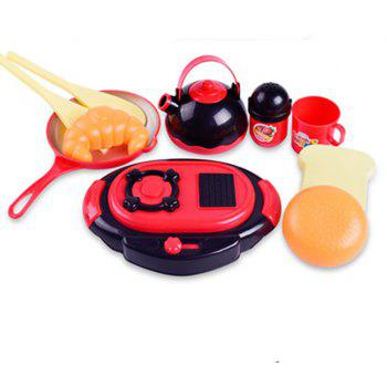 Kitchen Toy Cooking Food Dishes Cookware Pretend - multicolor